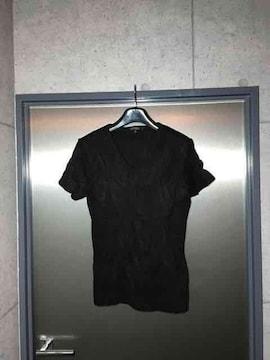5351プールオム/シワ加工半袖カットソーTシャツ/ブラック2