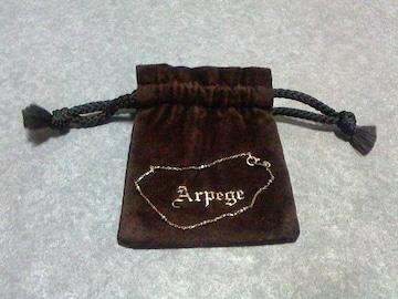 Arpege K10YG&WG ブレス&ラブトリプル プチペンダントのおまけ 送料無料