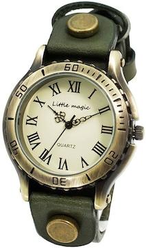 アンティーク 風 腕時計 カーキS
