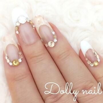 みぢょ!オーバル美爪フレンチふんわりマーブルローズ薔薇ベージュ/スワロジェル