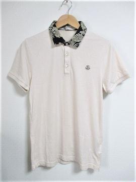 ☆MONCLER モンクレール リーフ柄襟 ワッペン ポロシャツ/メンズ/M☆国内正規品