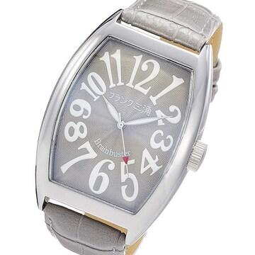送料無料 フランク三浦 腕時計 グレー×シルバー FM06K-GRSV