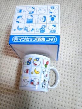 キティちゃんマグカップ(四角コマ)