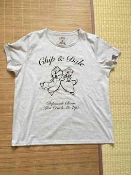 ディズニー・ロゴ&チップ&デール柄Tシャツ3Lサイズ