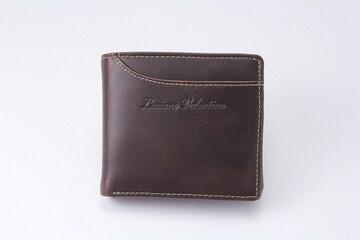 ルチアーノ バレンチノ二つ折り財布ブラウン