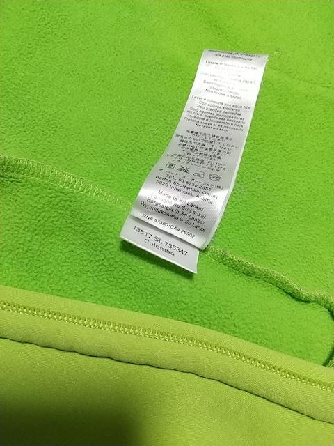 バートンBURTON裏フリースビッグロゴ刺繍ジップアップパーカーLサイズ緑スノーボード服 < ブランドの
