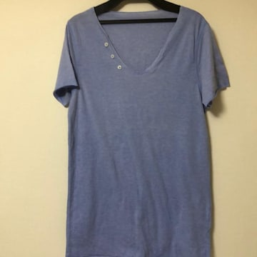 送料無料 メンズトップス Tシャツ ブルーSサイズ