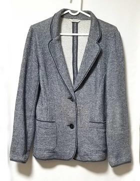 美品LiSALiSAジャケットブルースウェット素材Lレディース