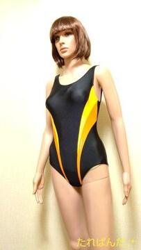 アシックス☆光沢つる�Aネオン切替の競泳 水着5519☆3点で即落