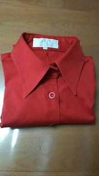 クードシャンス☆COUP DE CHANCE☆真っ赤なシャツ七分袖♪サイズ38