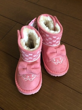 マイメロディ×フタフタ  ムートン風ブーツ  15cm  キッズ