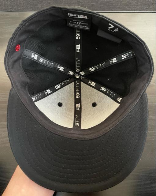 NEW ERA ×YOHJI YAMAMOTO  17AW 反転ロゴ キャップ  黒 7 3/8 < ブランドの