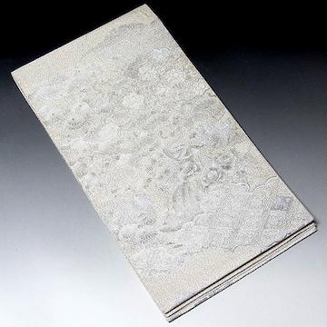 【袋帯】正絹 つづれ織り 孔雀・花柄