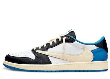 Travis Scott Fragment × Air Jordan 1 Low OG Military Blue