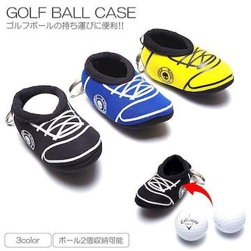¢M ゴルフボールの持ち運びに便利 シューズ型ゴルフボールケース/BL