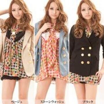 GJ☆お花ブロックチェック柄☆スカーフ付きシフォンワンピ☆レッド☆美品