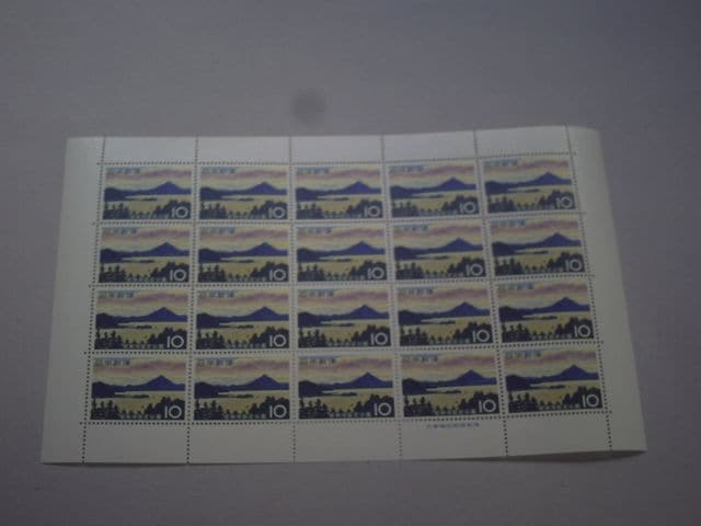 【未使用】国定公園切手 若狭湾 1シート  < ホビーの