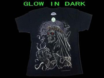 新品 (L) Monster Skull 限定夜光T−シャツ#2