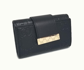 正規未使用グッチグッチシマ 6連キーケースGG型押しレザー