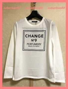 ☆イング☆新品定価3190円☆CHANGE NO.9ボックスロゴロンT☆