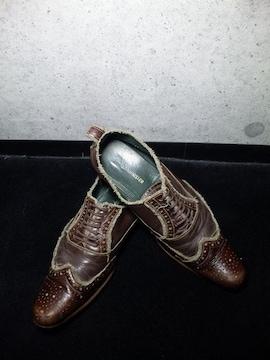 アルフレッドバニスターレースアップシューズ靴40ダークブラウン