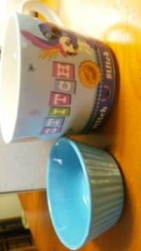 スティッチマグカップ小皿つき×2