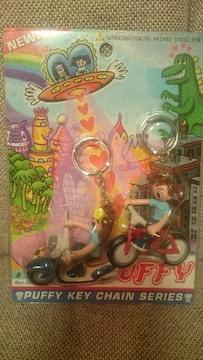 未開封 貴重!当時モノ Puffy フィギュア キーホルダー ビークル 1997 パフィ