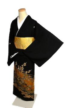 【最高峰】新品同様  金彩友禅【和田光正】比翼付 黒留袖 T1850