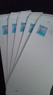 ミニレター、(郵便書簡)5枚新品