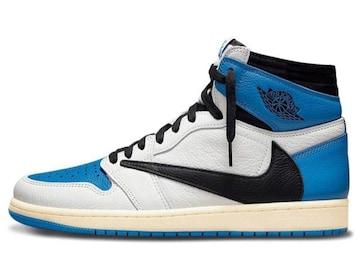 Travis Scott Fragment Nike Air Jordan1 High OG Military Blue