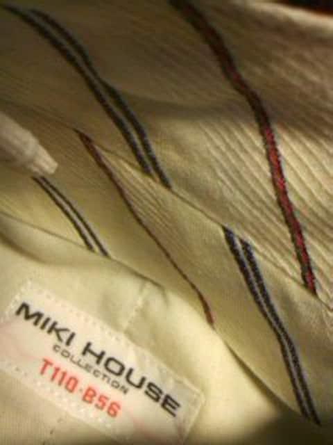 ●ミキハウス● チェック柄フォーマルショートパンツ 110美品 < ブランドの