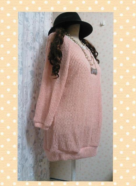 新品*大きいサイズLL*ピンク系セーター、タンク2点セット < 女性ファッションの