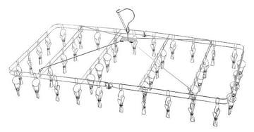 洗濯 物干し ハンガー 42ピンチ 折りたたみ式 ステンレス
