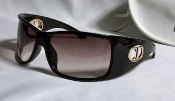 正規 Diorディオール CDロゴバタフライサングラス 濃茶×金×ブラウングラデーション