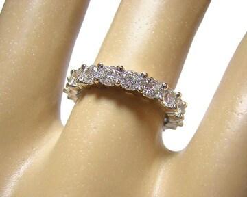 14K フルエタニティリング 指輪 約2ct キュービック