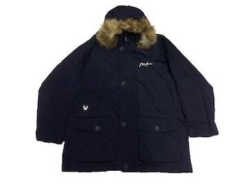 セール新品ファットファームPhatFarm★ロングダウンジャケットネイビー2XL大きいサイズ