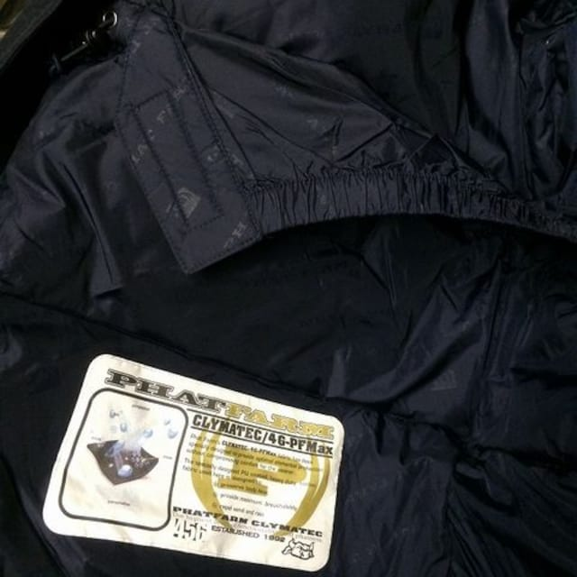 セール新品ファットファームPhatFarm★ロングダウンジャケットネイビー2XL大きいサイズ < 男性ファッションの