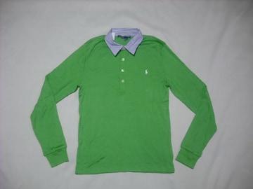 wr538 女 Ralph Lauren ラルフローレン 長袖ポロシャツ Lサイズ