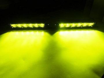 2個セット!18W黄色LED汎用フォグランプ/ランクル パジェロ等に!