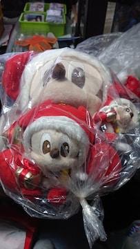 ミッキー・クリスマスぬいぐるみ・大・中・小セット