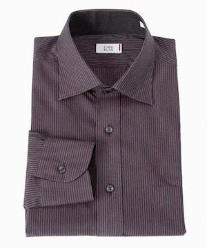 3Lサイズ!ダークカラーが渋い男!形態安定!袖&袖裏別布デザイン長袖ワイシャツ!