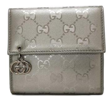 未使用正規グッチ財布三つ折りGGインプリメレディースシル