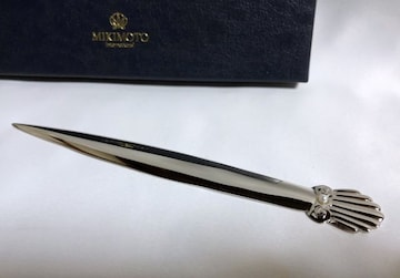 正規新古 MIKIMOTOミキモト ヴィンテージ パール装飾ペーパーナイフ シルバー 真珠
