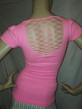CLASS シームレス 蛍光ピンク Tシャツ ネオン