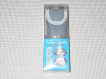 Wii★Wiiリモコン専用ケース グレー モバイルケースWii 任天堂