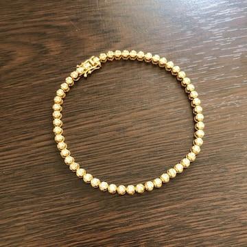 即決 K18 ゴールド ダイヤモンド ブレスレット