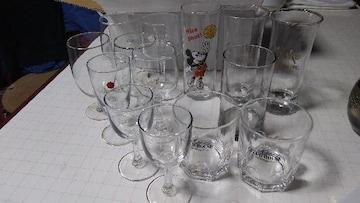 ガラスのグラス色々バラ14個数ゆうパック80使用済