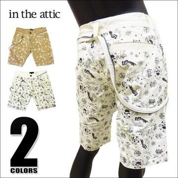 in the attic 総柄ショートパンツ ホワイト LL 132-1791