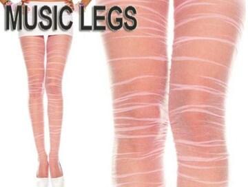 A073)MusicLegsくしゅくしゅストッキングピンクタイツダンスダンサーB系衣装