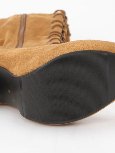 000085 新品未使用 サイハイブーツThighhigh boots 膝上ブーツ < 女性ファッションの